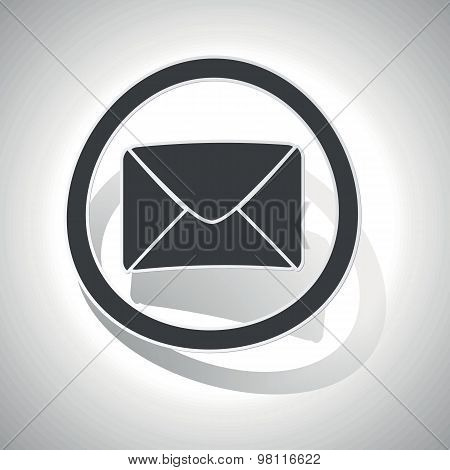 Curved letter sign icon