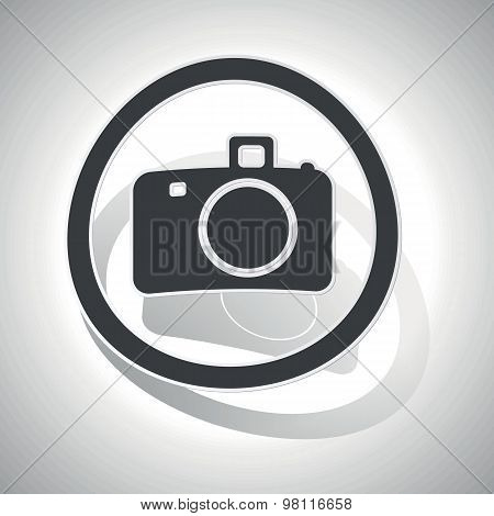 Curved camera sign icon