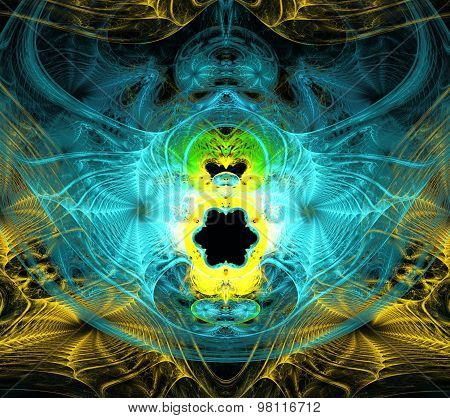 Illustration Of An Abstract Fractal Background With Cobwebs For