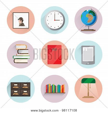 Library icons