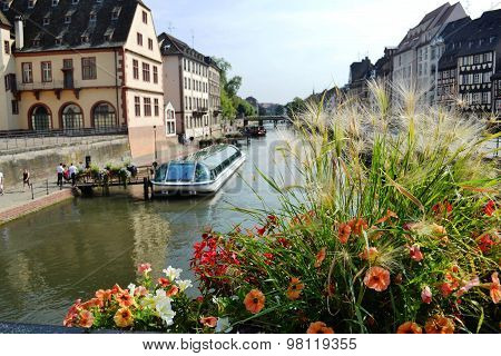 view of the canal in Strasbourg (Alsace, France)