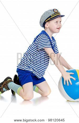 The boy with the ball