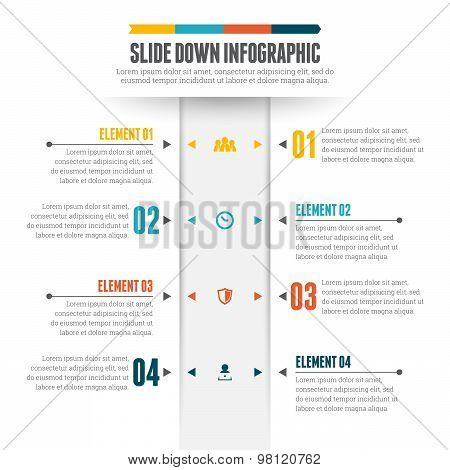 Slide Down Infographic