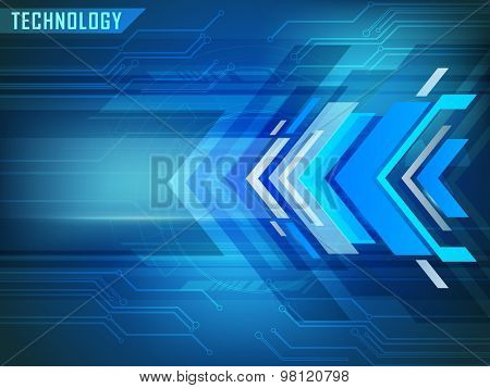 Creative abstract hi-tech blue background for technology concept.