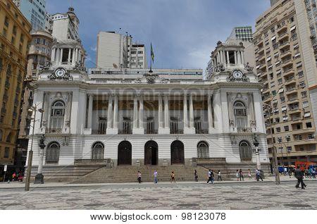 Rio de Janeiro City Hall in Cinelandia Square