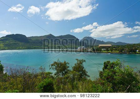 Beautiful View Of Nawiliwili, Kauai Island, Hawaii, Usa