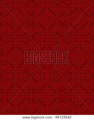Seamless Chinese window tracery lattice square geometry line pattern.