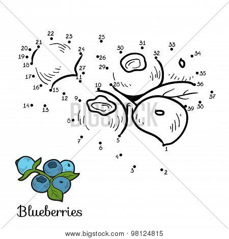 Numbers Game: Fruits And Vegetables (blueberries)