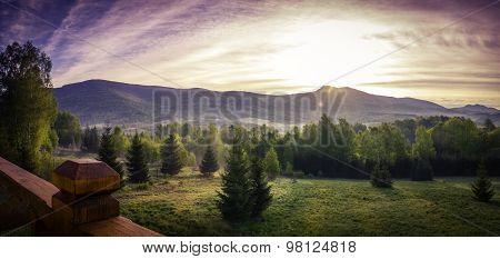 Beautiful Morning In Mountains