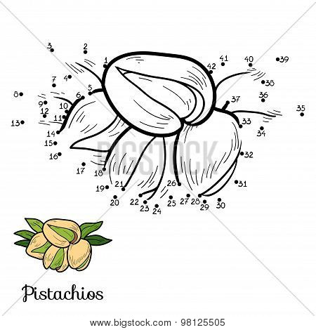 Numbers Vector Game: Fruits And Vegetables (pistachios)