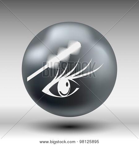 Illustration brushes mascara brush makeup eye eyelash.