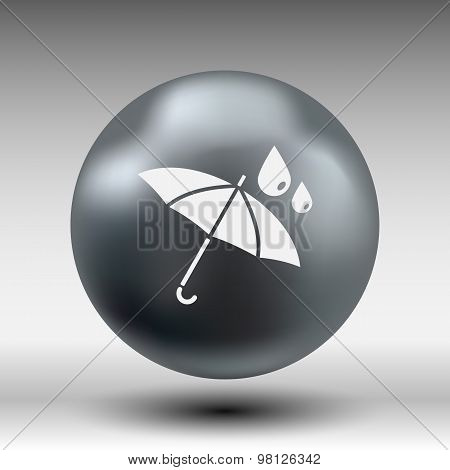 waterproof icon water proof vector symbol umbrella