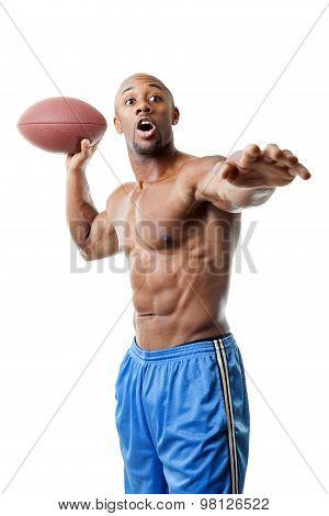 Muscular Football Player