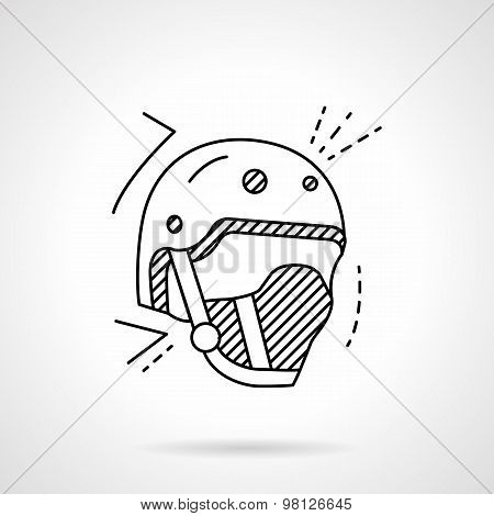 Skaters helmet line vector icon