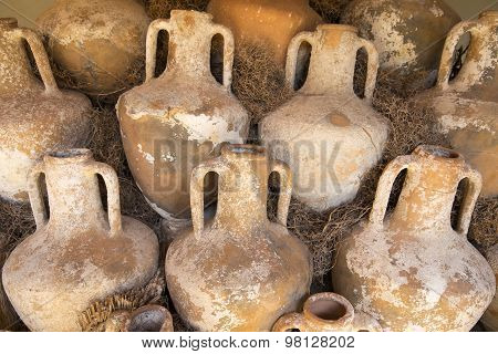 Ancient Pottery Wine Amphora Found In The Ruins