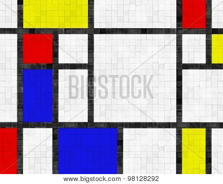 colorful floor or wall tile background