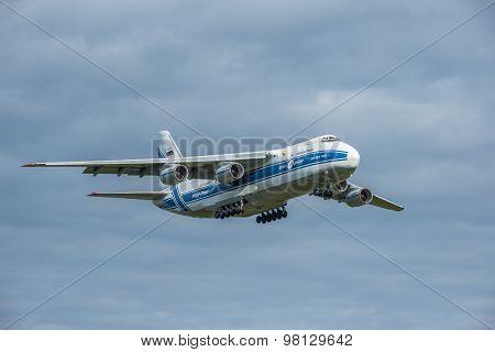 Landing Of The Big Cargo Airliner.