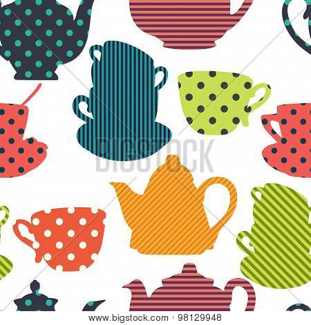 Coffee And Teapots Pattern