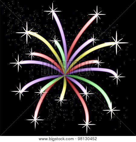 Colorful Light Firework