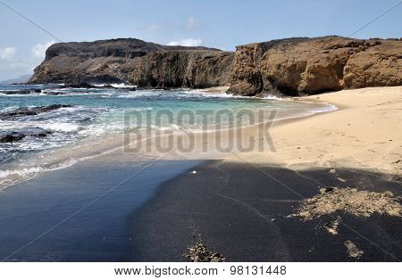 Black Leading To White Sand Beach