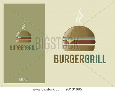 Logo Design Element Burger