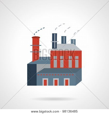 Industry building flat vector icon