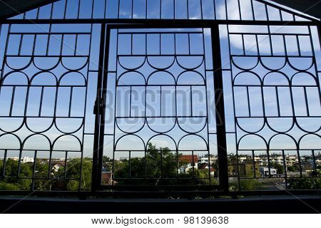 Iron Cages on Window