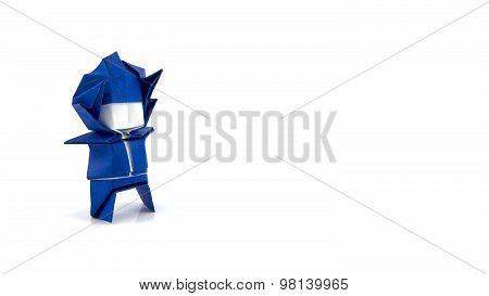 Origami Blue Boy 2