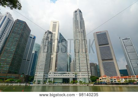 Business District Of Singapore