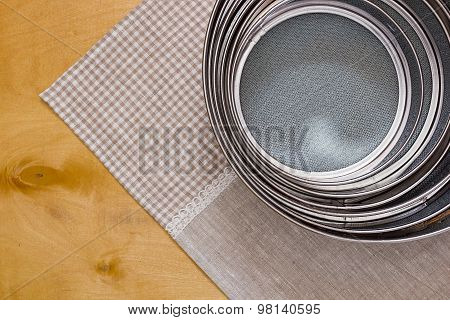 Different Sized Sieves