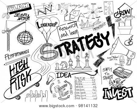Strategy Doodle Freehand Creative Sketch Concept