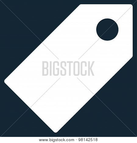 Tag flat white color icon