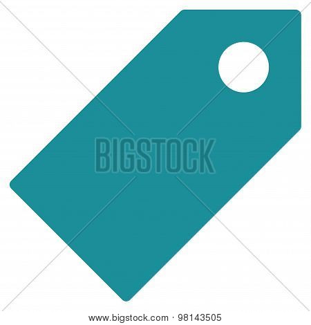 Tag flat soft blue color icon