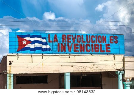 HAVANA, CUBA - CIRCA JULY 2015: Sign with