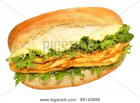 Egg Omelette Filled Sandwich Roll