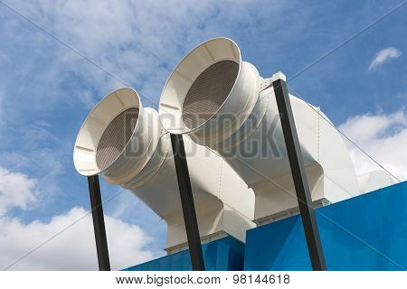 Ventilation Shafts Of Centre Pompidou In Paris