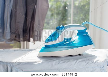 Ironing Housework Ironed Folded Shirts Clean Concept Still Life