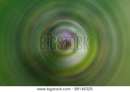 Green Radial Blur
