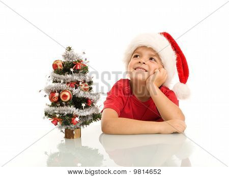 Boy Dreaming Of Christmas