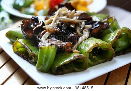 China cooking green pepper