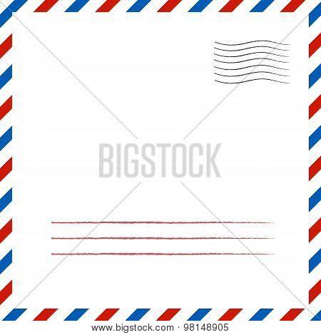 Postal background. Vector illustration.