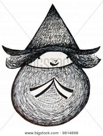 Cute Round Lil Witch