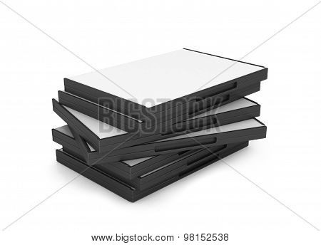 Blank  Dvd Or Cd Box Isolated On White
