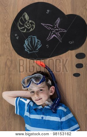 Boy With Mask And Snorkel