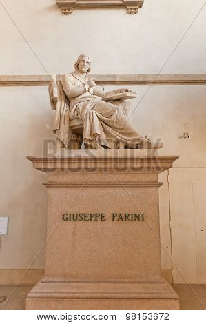 Statue Of Poet Giuseppe Parini In Milan, Italy