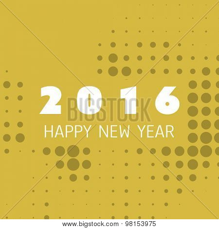 Simple Colorful New Year Card, Cover or Background Design Template - 2016