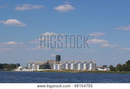 Storage Of Grain Near The Water
