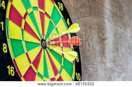 Dart Hitting A Target