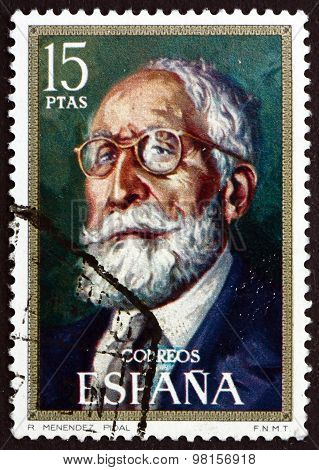 Postage Stamp Spain 1971 Ramon Menendez Pidal, Philologist