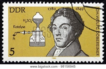 Postage Stamp Germany 1980 Johann Wolfgang Dobereiner, Chemist
